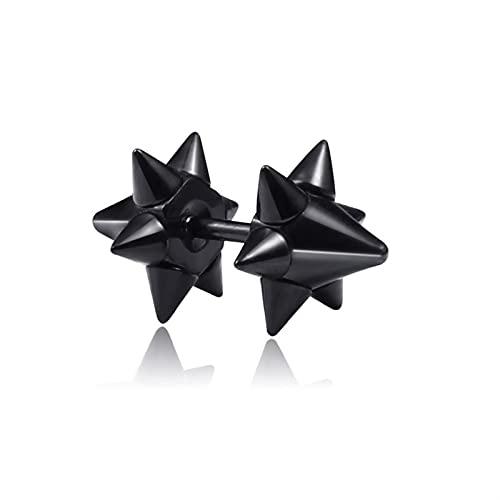 DALIANMAO Pendientes 1 par de Estilos de múltiples Estilos de Acero Inoxidable/de Titanio para Hombres y Mujeres Gótico Calle Pop Hip Hop Joyería (Main Stone Color : 1 Pair, Metal Color : Style 30)