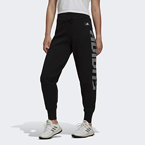 adidas Women's Knitted Loose Fit Pant, Black, S
