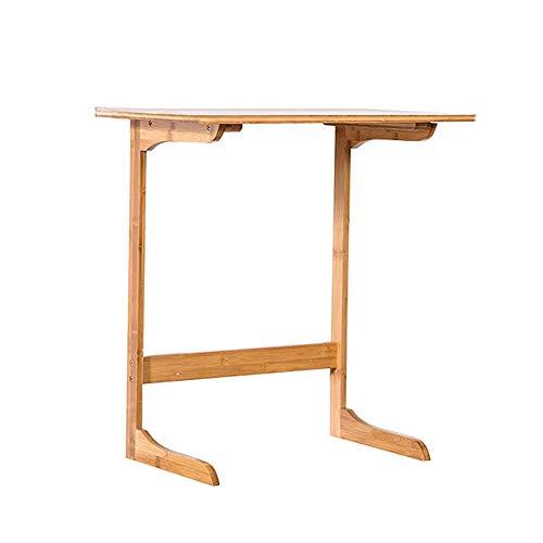 LRXGOODLUKE Bamboe Bank Side Table, Creatieve Kleine Koffie Tafel Laptop Tafel Heldere Textuur Meeldauw Bewijs en Mieten