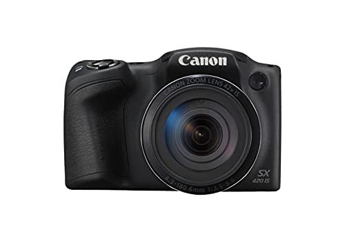 "Canon PowerShot SX420 IS - Cámara Digital compacta de 20 MP (Pantalla de 3"", Zoom óptico de 42x, NFC, WiFi), Color Negro"