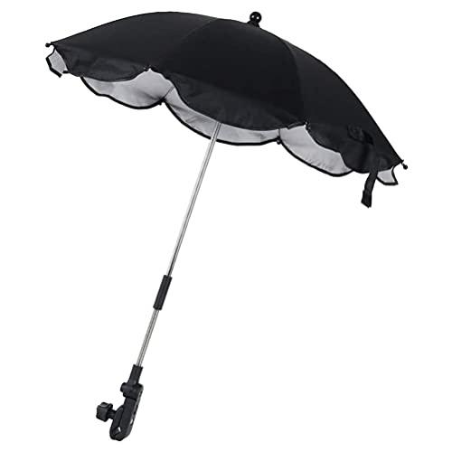 Allsmart Ombrello per Carrozzina Parasole per Carrozzina, Parasole Universale per Passeggino UV con Clip di Fissaggio, Parasole Pieghevole per Passeggino, Parasole Regolabile per Bicicletta