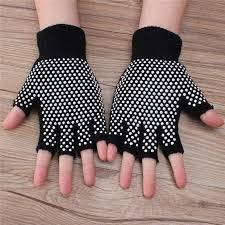 AARVIB Gym Fitness Grippy Yoga Gloves Sports Gloves Non-Slip Finger-Less Design Gloves Hand Protector Gloves for Men & Women