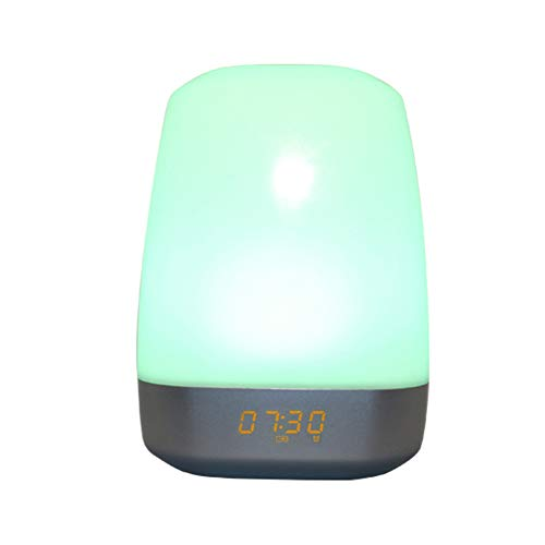 YXZN 7 Farben Wake Up Light LED Bedside Lampe Nachtbeleuchtung Multifunktion Elektronische Alarmuhr