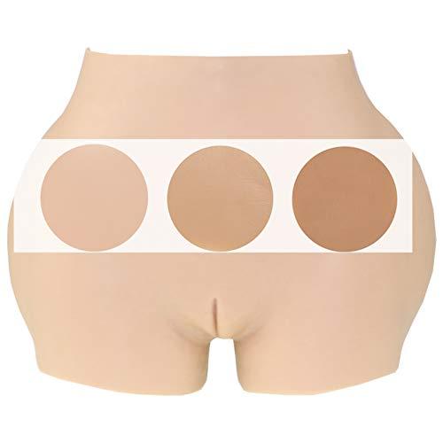 Tex-Eorey Frauen Silikon Panty Enhancer Shaper Panty mit Katheter - Butt Hip Lifter Control Höschen für Crossdresser & Transgender Männer,Haut