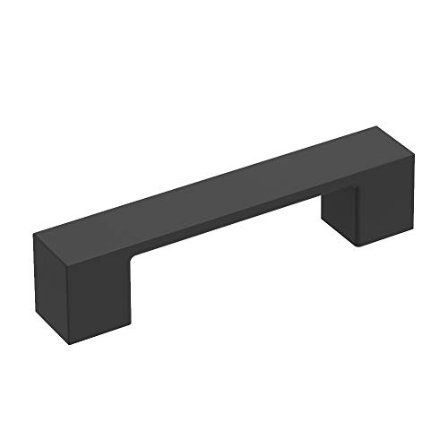 Basics Collection Pull 3 Inch Center to Center Matte Black Finish (10-Pack)