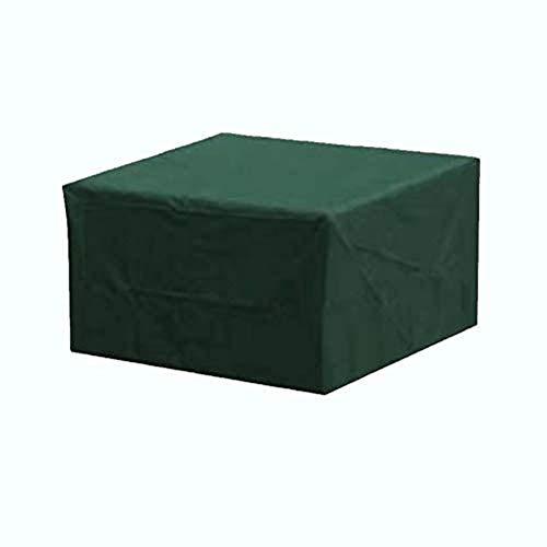 Fundas de muebles de patio rectangulares 210D 110x110x70cm Cubiertas de mesa al aire libre a prueba de viento Cubiertas de muebles de jardín impermeable cuadrado resistencia al desgarro Oxford