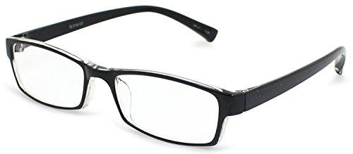 デューク 老眼鏡 +2.0 度数 エアフォルクカラーズ 形態安定樹脂フレーム ソフトケース付き ブラック DR-47-1+2.00