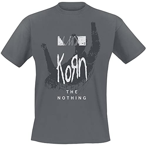 Korn The Nothing - Overlay Männer T-Shirt Charcoal L 100% Baumwolle Band-Merch, Bands