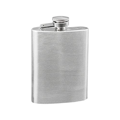 Hearsbeauty - Fiaschetta portatile in acciaio INOX, per liquori, whisky, 4/5/6/7/8/10 oz