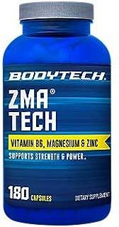 BodyTech ZMA Tech 2500MG (Zinc Magnesium Aspartate) with Vitamin B6, Magnesium Zinc (180 Capsules)