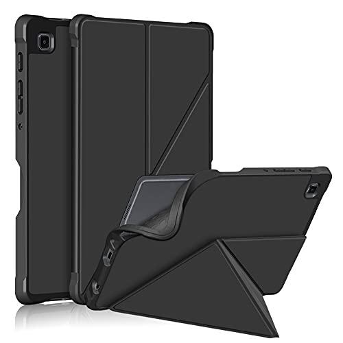 Tiggo - Funda para Samsung Galaxy Tab A7 Lite 8.7' 2021 (modelo SM-T220 / T225), diseño delgado y ligero de tres pliegues, color negro