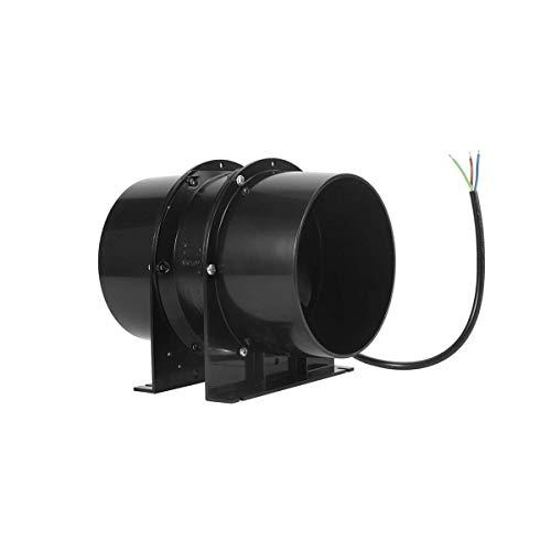 Hon&Guan 100mm Rohrventilator - 119m³/h Metall Kanalventilator Abluftventilator für Wachstumszelte, Badezimmer, Keller, Garage - MEHRWEG