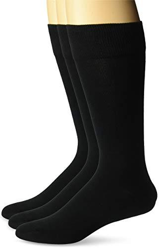 BUTTONED DOWN Chaussettes Habillées en Coton Pima Homme, Lot de 3,Noir (Black Bla),US Shoe Size:...