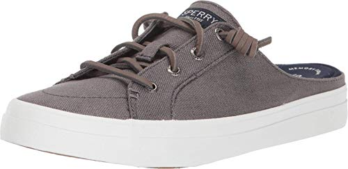 Sperry Crest Vibe Mule Canvas Grey 8.5 M (B)