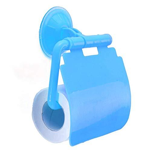 YELLAYBY Rack de Pared Aseo Caliente Accesorios de baño Titular de Papel higiénico dispensador de Papel instalación del Estante de la Pared, de plástico con una Toalla de Papel (Color : Blue)