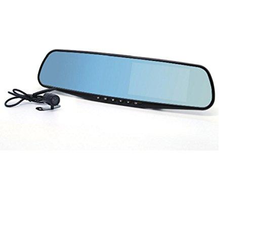 HaoYiShang Écran LCD Full HD 1080p caméra vidéo de Voiture 4.3 avec Double Objectif pour véhicules Avant véhicules & Rétroviseur DVR Dash Cam