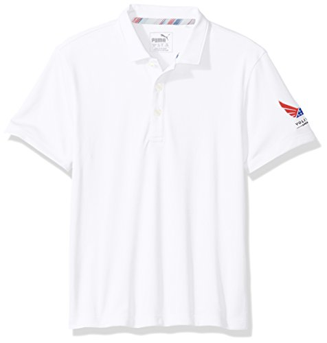 PUMA Golf 2017 Volition Pounce Polo für Jungen XS Bright White