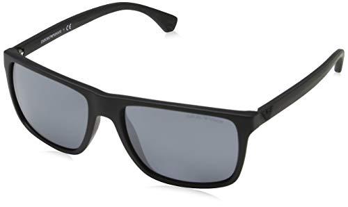 Emporio Armani Herren 0EA4033 Sonnenbrille, Schwarz (Black Rubber), 56