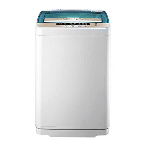 XIAZI Counter Top Washer,Full-Automatic Mini Multifunctional Washing Machine Portable Compact Design Washing Capacity 10 Ib Top Load Laundry Washer/Spinner,White