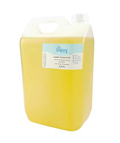 Aceite de almendras dulces (5litros) de grado cosmético para masajes, aromaterapia, jabones, lociones, etc.