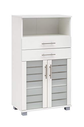 Schildmeyer Niko Midischrank 105652, weiß, 59,8/32,6/110,5 cm