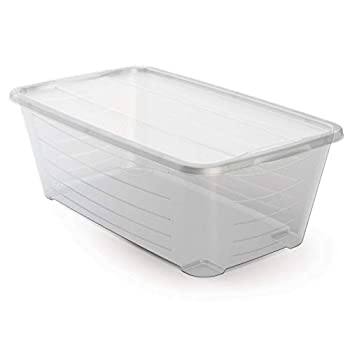 Life Story 6 Qt Rectangular Clear Plastic Protective Storage Shoe Box  20 Pack