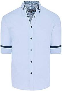 Tarocash Men's Ryder Textured Shirt Regular Fit Long Sleeve Sizes XS-5XL for Going Out Smart Occasionwear