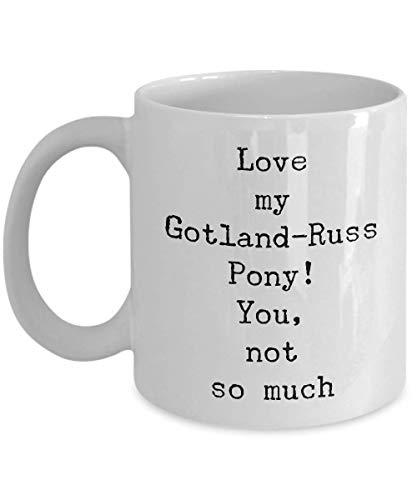 Gotland-Russ Kaffeetasse mit Pony-Pferd-Motiv, tolle Geschenkidee für Damen, Shoer, verwandte Gag-Geschenke für Pferde, Mitgefühl, Lehrer, Tierarzt, Rennen