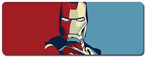 Iron Man,Avengers Mouse Pad,Professional Large Gaming Mouse Pad, Classic Pattern Mouse mat,Extended Size Desk Mat Non-Slip Rubber Mouse Mat,Marvel (800 × 300× 2 mm / 31.5 × 11.8 × 0.1 inch, 13)