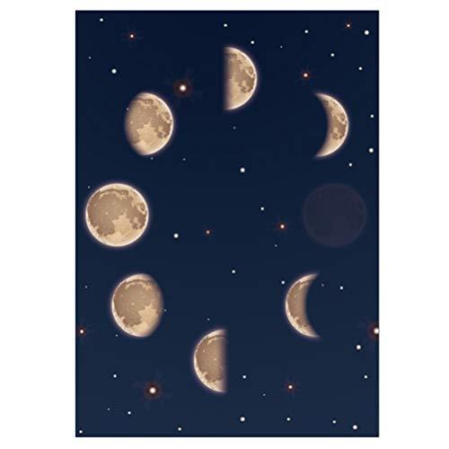 Garneck Pintura de La Luna Imagen de La Pared Fases de La Luna Arte de La Pared...