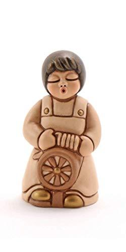 THUN - Donna Tessitrice con Arcolaio - Statuine Presepe Classico - Ceramica - I Classici