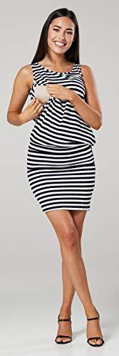 HAPPY MAMA. Para Mujer Vestido en Capas Premamá de Lactancia Sin Mangas. 014p (Marina Rayas, 38, M)