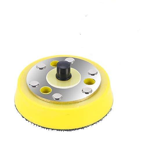 KAILEE Plato de Lija para Taladro con Belcro, 75mm Disco Lija Madera Amoladora Incluido de Sujeción de Mandril Plato de Lija para Amoladora Lijadora Lijado y Pulido