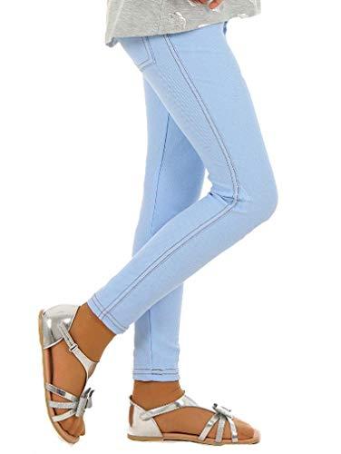Dykmod Mädchen Frühling Leggings Leggins Jeans-Optik Look hk135 146 Hellblau