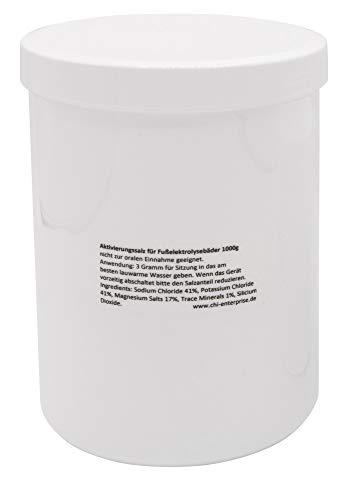 1000 g de sel activateur pour Hydrosana, Bioenergizer Detox Spa, Ion Cleanser, Royal Spa et autres bains de pieds - teneur réduite en sodium, enrichi