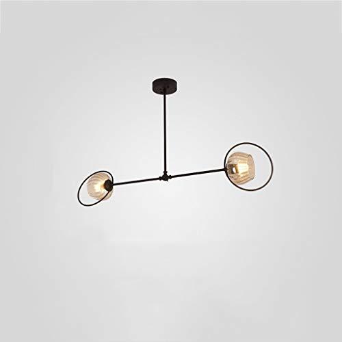 JIAWYJ YANGHONG-Araña de Estilo Industrial- Light 2/4/6/8 Moderna lámpara de araña de Enchufe de latón Cepillado (Edición: 4 Cabezas) / DDBBEMGD-634 OUZHOUZD-5 (Color : 2 Heads)