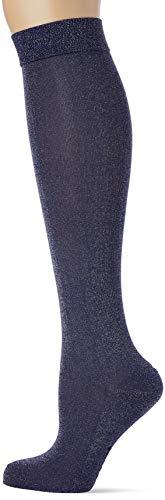 FALKE Damen Kniestrümpfe Shiny - Baumwollmischung, 1 Paar, Blau (Royal Blue 6000), Größe: 37-38