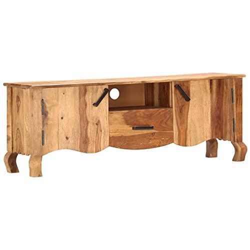 Mueble de TV, Mesa para TV Armario para TV Mesa Televisión Mueble para TV de Madera Maciza de sheesham 115x30x42 cm