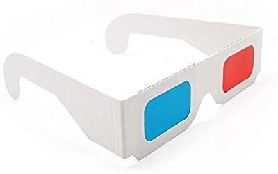 NCTPTECH 3D Glasses for Movies 10 Pairs Red/Cyan Cardboard 3D Glasses - White Frame