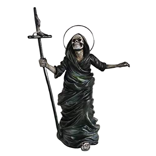 Estatua de esqueleto de Halloween Hahepo Halloween Figura de demostración de resina artesanal con crucifijo para el hogar o la oficina decoración esqueleto