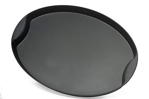 Garnet 9012 Vassoio in plastica Ovale Grande – con Finitura Antiscivolo Soft Touch nella Parte Interna – Altezza Bordo 3 cm – Misure 42x30 cm-Made in Italy