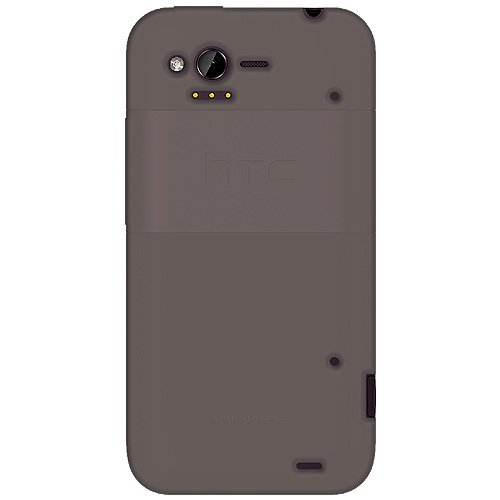 Amzer AMZ92520 Grey Silicone Jelly Skin Fit Cover Case for HTC Rhyme - Retail Packaging - Grey