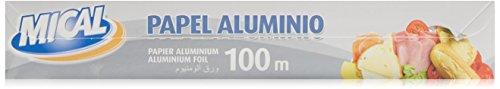 Papel mical aluminio, 100m x 29cm
