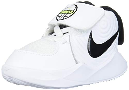 Nike Jungen Unisex Kinder Team Hustle D 9 (TD) Basketball Shoe, White/Black-Volt, 25 EU