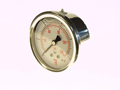 THERMIS Manometer 358G 1/4 Anschluss von hinten (0 – 10 bar) 63 mm