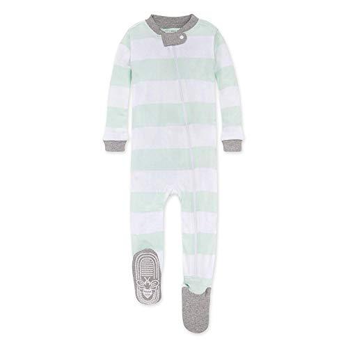 Burt's Bees Baby Baby Boys Sleeper Pajamas, Zip-Front Non-Slip Footie PJs, Organic Cotton