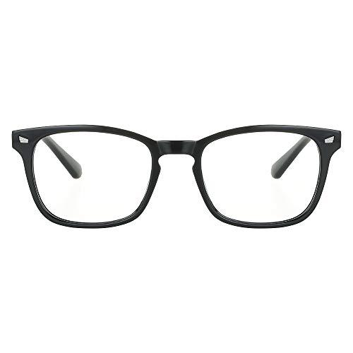 [Versión Mejorada] Cyxus Gafas de Filtro de Luz Azul Lentes de Computadora para Hombres y Mujeres Anti Reflejantes TR90 Marco Ligero Negro
