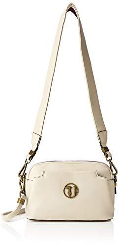 Trussardi Jeans Rabarbaro Shoulder Bag, Borsa a tracolla Donna, Bianco (Off/White), 24x16x10 cm (W x H x L)