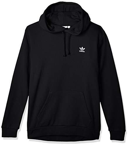 adidas Mens Essential Hooded Sweatshirt, Black, S