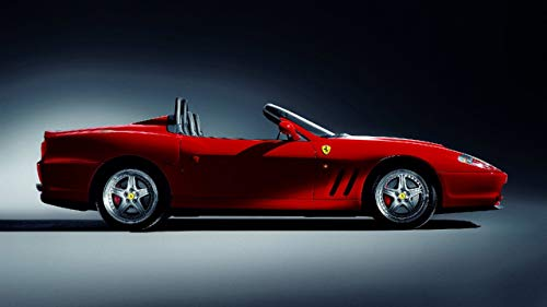Lilarama USA 2001-Ferrari-550-Barchetta-V3- - Super Car Classic Car Poster Print - Cool Wall Decor Art Print Poster